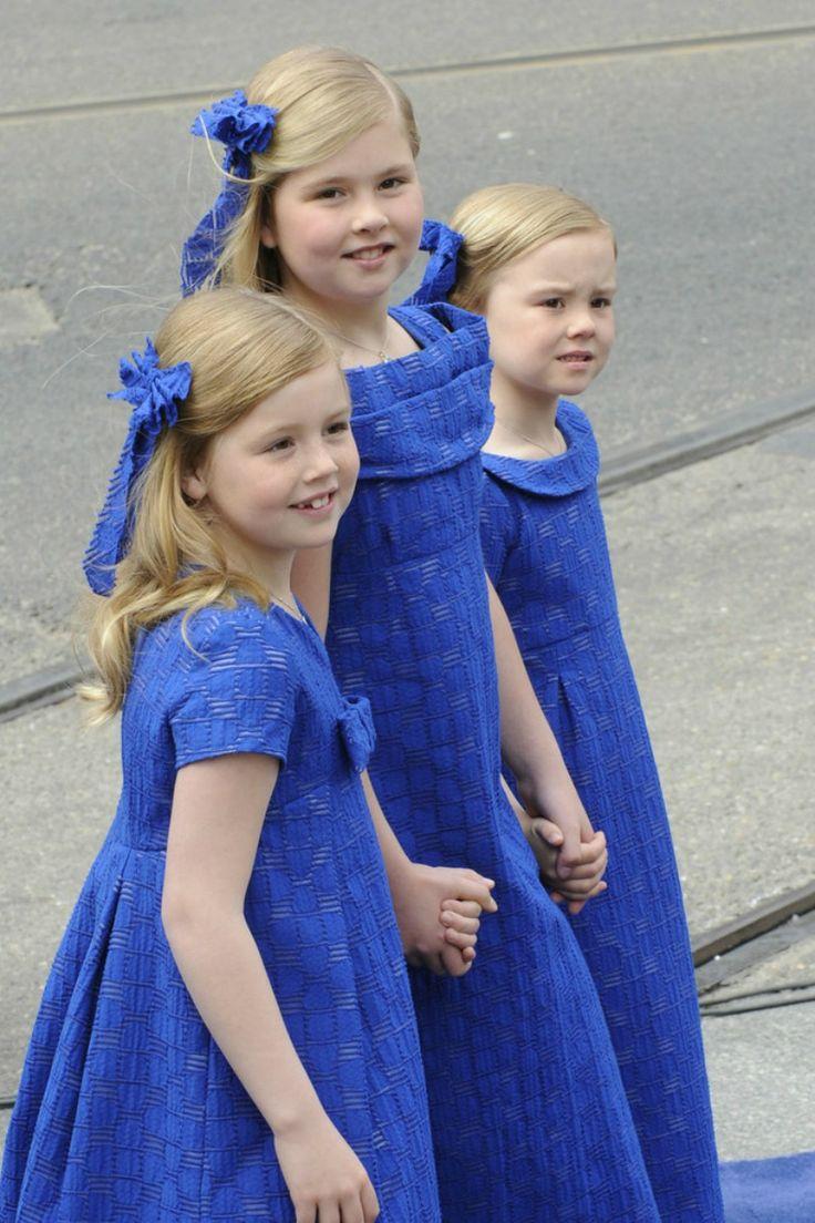Crown Princess Catharina-Amalia, Princess Alexia, and Princess Ariane.