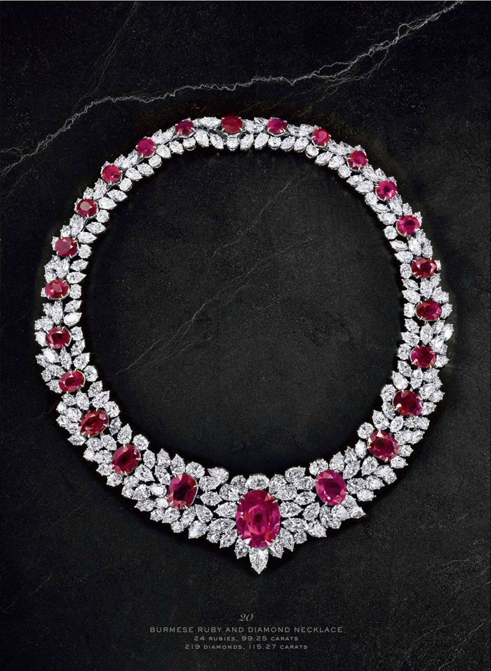 Burmese Ruby and Diamond Necklace