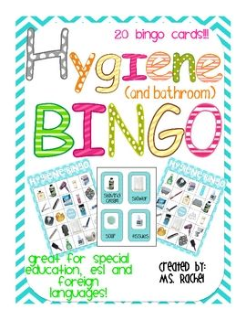 Hygiene and Bathroom Item Photo Bingo!!