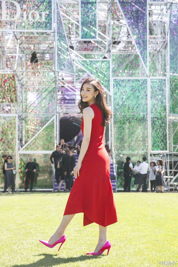 Actress Ni Ni Attends Christian Dior Fashion Show in Paris, France