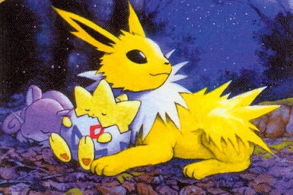 Jolteon, Togepi & Ratata -- I've always really liked this piece of fanart. ... OKAY, Jolteon spam is done. Maybe. Hopefully.
