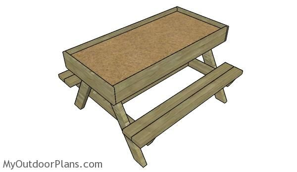 1000 ideas about kids picnic table plans on pinterest kids picnic table children 39 s picnic. Black Bedroom Furniture Sets. Home Design Ideas
