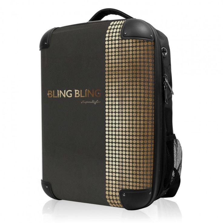 """BLNBAG - Rucksack Weich/Hart Hybrid Design: Bling Bling, 50 cm, 28 Liter; Schwarzer #Rucksack aus der Serie """"BLNBAG"""" von #Hauptstadtkoffer.  #Hartschalenkoffer #Handgepäck #Schwarz #Koffer #Travel #Luggage #Reisen #Urlaub #black #blingbling => mehr Schwarze Koffer: https://hauptstadtkoffer.de/de/reisegepack/alle-produkte?color=24"""