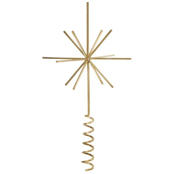 Brass christmas tree top star