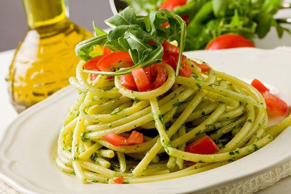 2 Easy Pastas: Almond-Pesto Pasta or Marinara Pasta Recipes