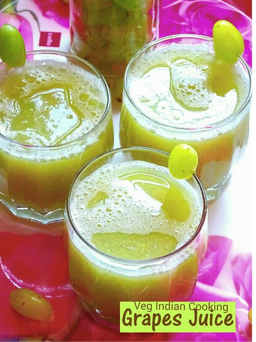 Veg Indian Cooking: Grape Juice
