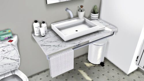Lavabo Sink & Warsaw Bathroom Toilet by MXIMS for The Sims 4