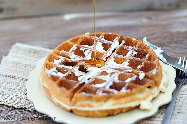 The Very Best Waffles; very good, we loved these with fresh strawberries and whipped cream on top!
