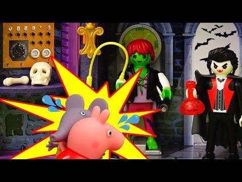 peppa pig en la casa fantasma   parque de atracciones   juguetes