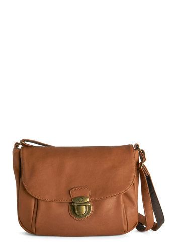 Spontaneous Sojourn Bag. For a trip to see the fantastic foliage across your state, grab this almond-brown cross-body bag and jump into your friends car! #gold #prom #modcloth