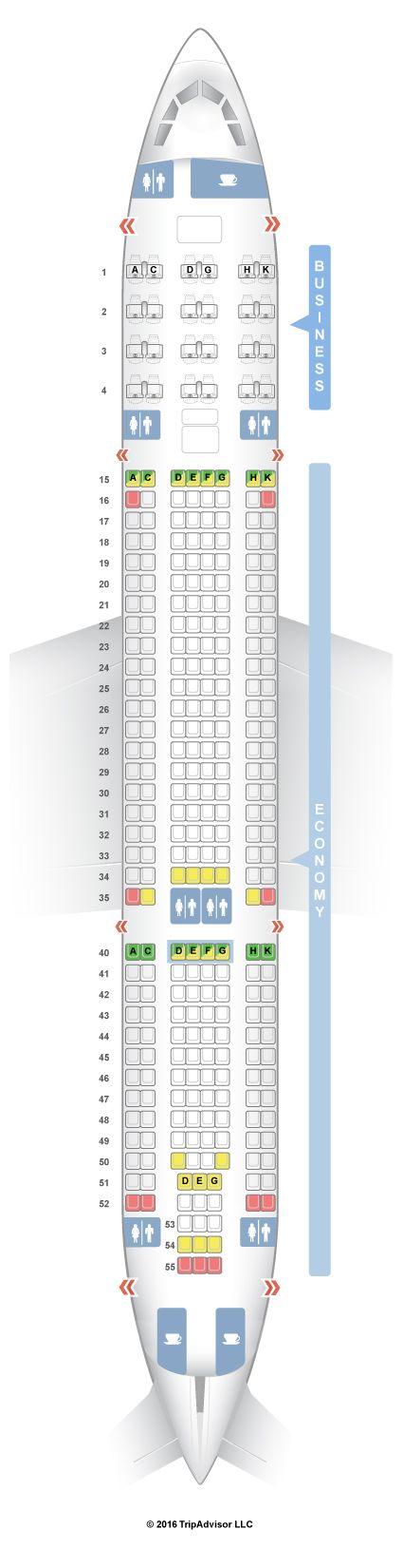 SeatGuru Seat Map Air Europa Airbus A330-200 (332)
