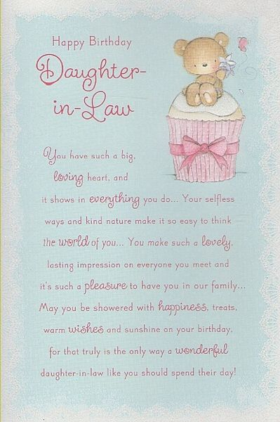 Daughter In Law Birthday Greetings Birthday Cards Daughter In