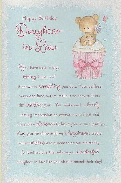Daughter In Law Birthday Greetings Birthday Cards Daughter In Law Happy Birthday