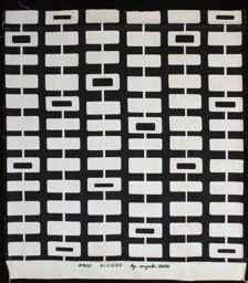 Algiers (Furnishing Fabric) -- 1952, designed by Angelo Testa. Linen plain weave; screen printed