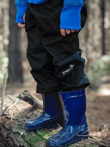 Buy Waterproof Kids' Wet-weather Shell Splash Pant - Girls Boys Black