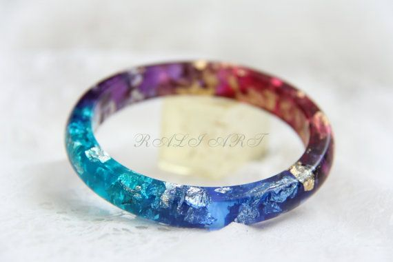 Hey, I found this really awesome Etsy listing at https://www.etsy.com/listing/230931956/resin-bracelet-bangle-gold-flakes-resin