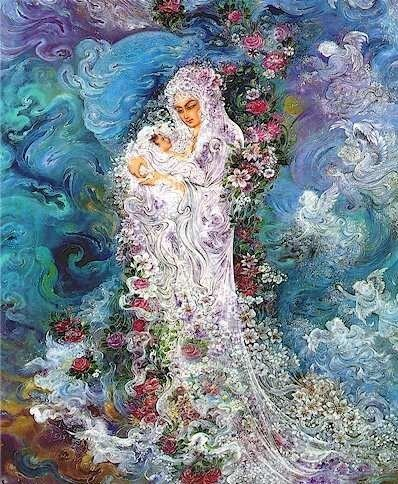 Iran Politics Club: Mahmoud Farshchian Online Gallery 2, Persian Miniature Paintings - Ahreeman X
