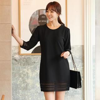 3/4-Sleeve Perforated Mini Dress from #YesStyle <3 Stylementor YesStyle.com
