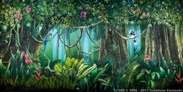 Backdrop Tj005 Tropical Jungle 5 Forest Backdrops
