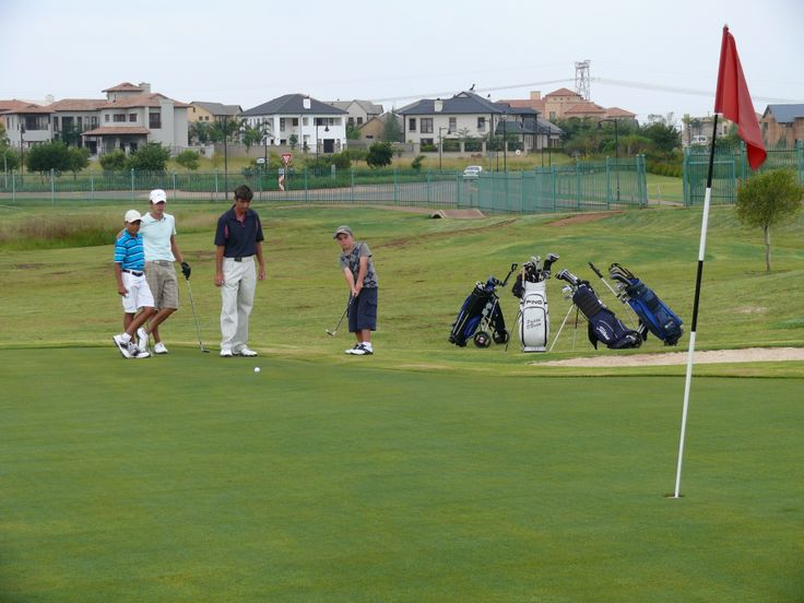 Families enjoy a game of golf at the Midfield Golf Course. Golf course Pro, Patrick O'Brien, provides a variety of courses for young and old, novices and regular players of the game. For more information visit www.midrand-estates.co.za
