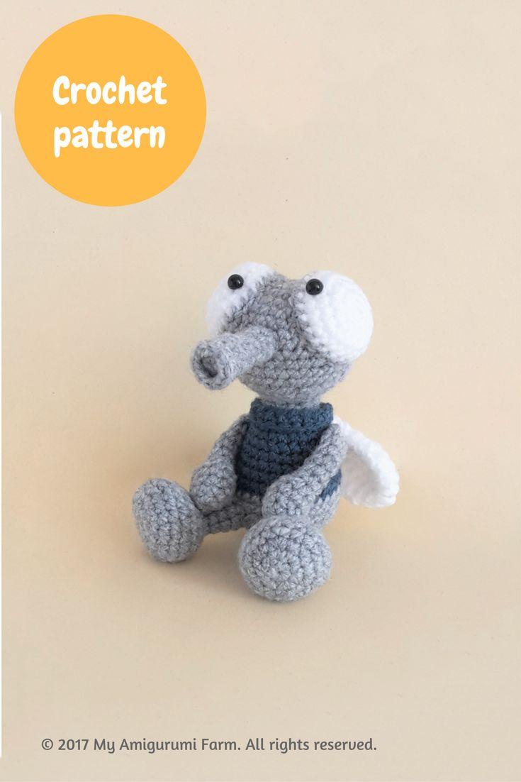 Crochet house fly amigurumi pattern