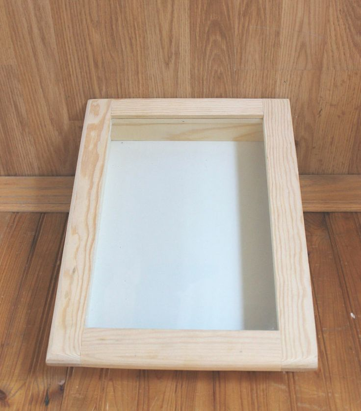 Unfinished Wood Shadow Box With Hinged Glass Door Front 15