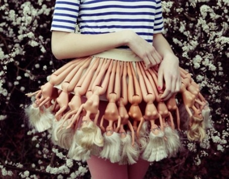 I laughed outloud....oh my gosh...are you kidding me...barbie skirt. gonna make me one of those, hahaha