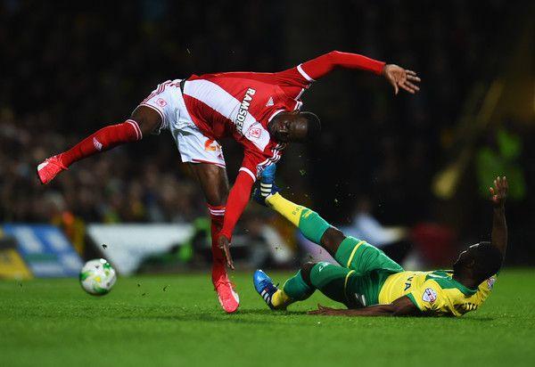 Albert Adomah Photos - Norwich City v Middlesbrough - Sky Bet Championship - Zimbio