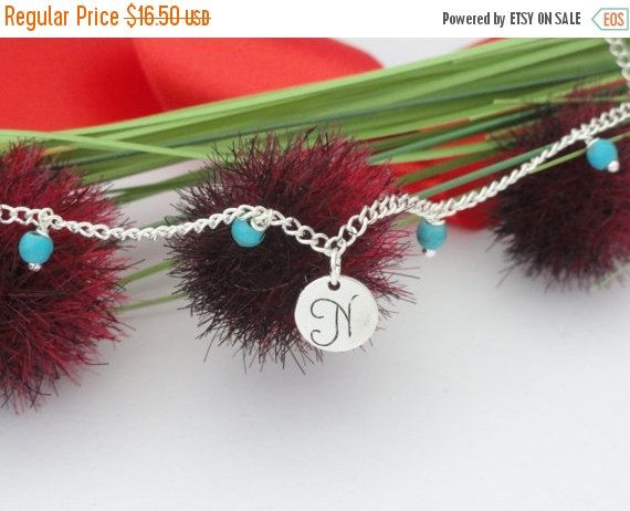 ON SALE, Personalized Anklet, Initial Name Anklet, Ankle Bracelet, Customized…