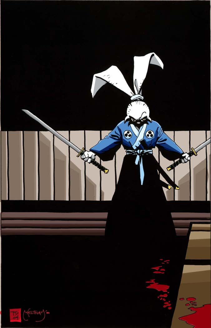 Usagi Yojimbo by Tim Sale Looks a lot like Stickpage guy in clothes.