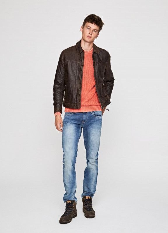4a39cd32e08 LEATHER JACKET  DALSTON  Pepe Jeans