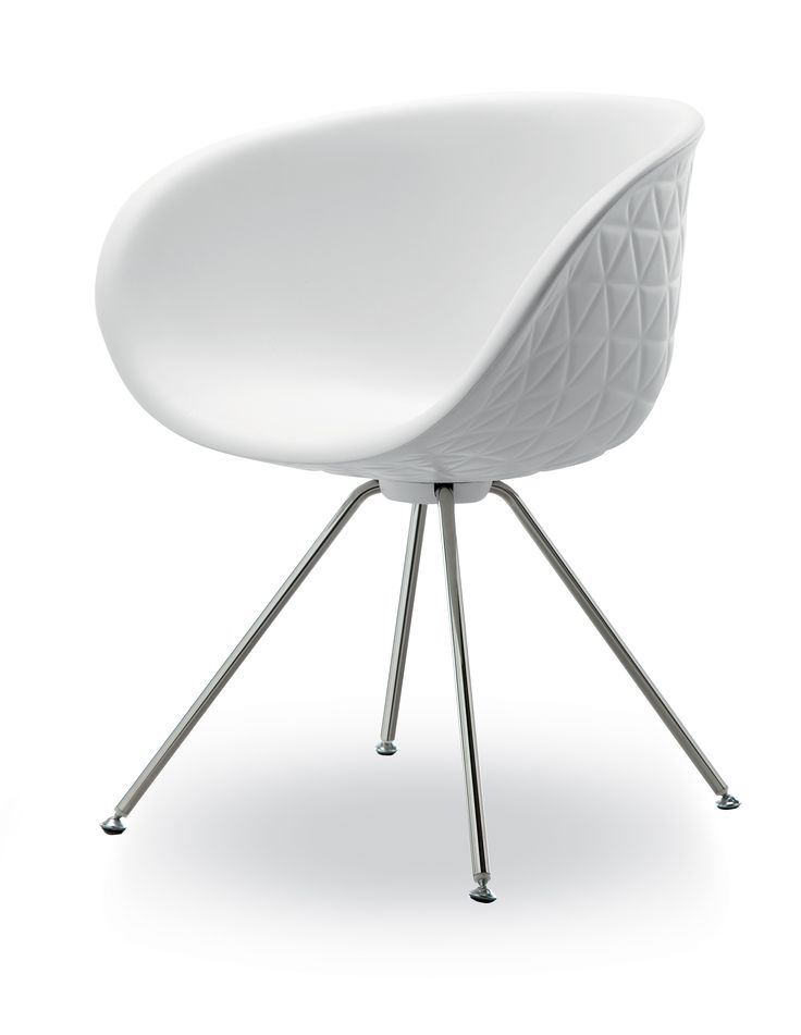 Structure 905.01 - Side chair with seat in solid-coloured integral foam, available in twelve shades. Legs in matt or polished chrome.