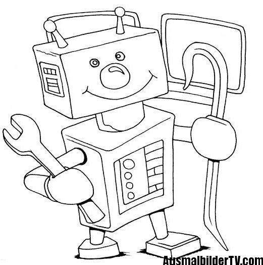 Roboter Ausmalbild Basteln Mit Kindern Roboter Ausmalen