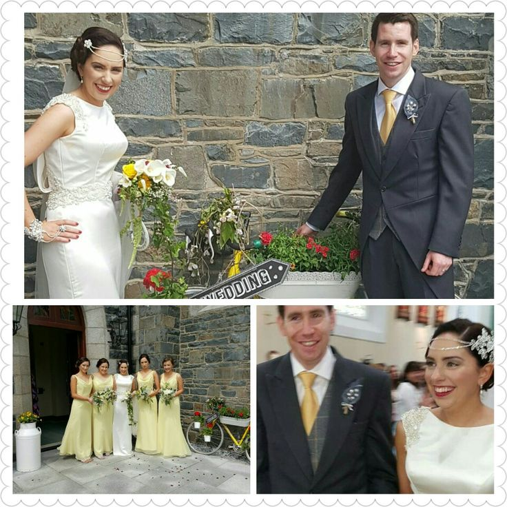 Grey & Yellow bicycle theme wedding