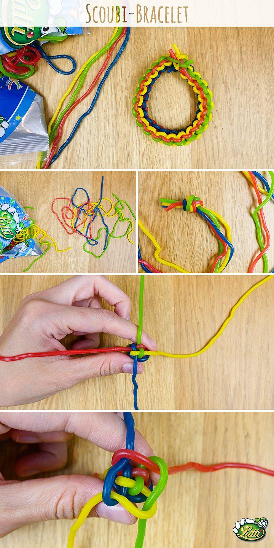 how to make a scoubidou bracelet