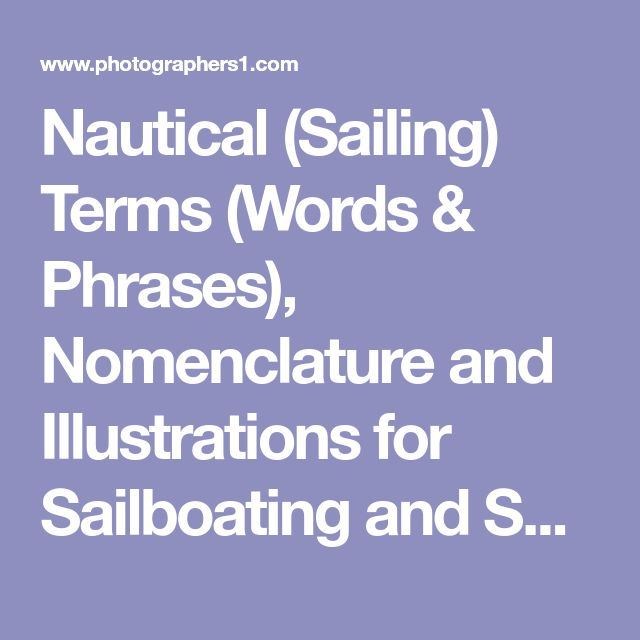 Nautical (Sailing) Terms (Words & Phrases), Nomenclature and Illustrations for Sailboating and Sailboarding (Windsurfing)