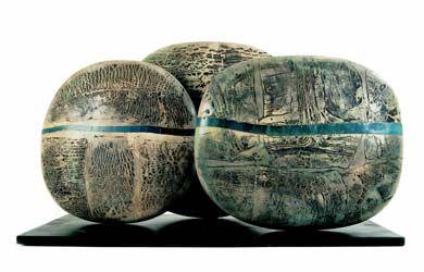 Ceramic Arts London - Peter Hayes - Boulders  - 90cm high