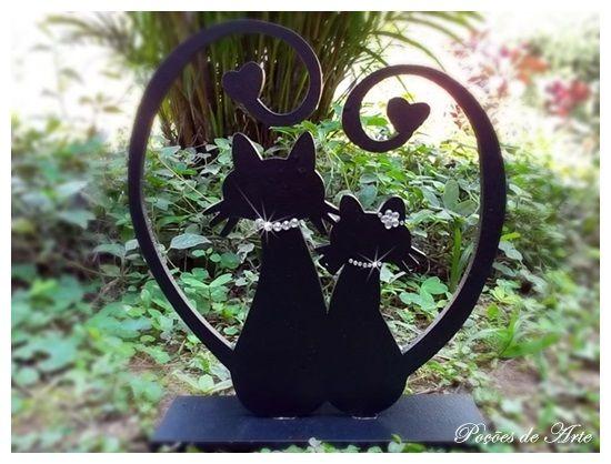 Lojinha Poções de Arte: Gatos - Casal Enamorado.