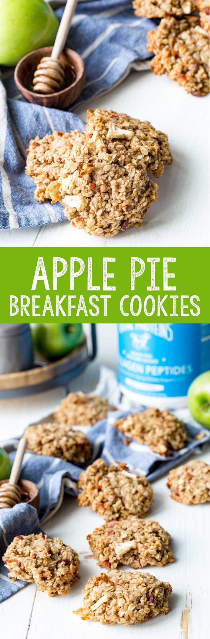 Even my kids loved these Apple Pie Breakfast Cookies. And the added protein is a huge plus. #ad - Eazy Peazy Mealz