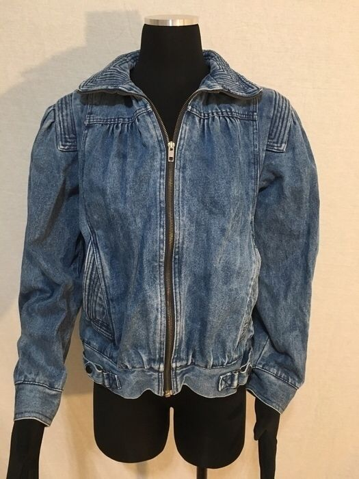 My Vintage 90's Ruched Detailed Denim Zip Up Jacket- M by ! Size 6 / S for $$15.00. Check it out: http://www.vinted.com/womens-clothing/jean-jackets/21525309-vintage-90s-ruched-detailed-denim-zip-up-jacket-m.