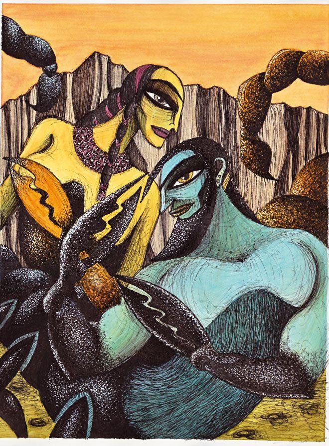 "Marco Lorenzetti illustration for ""The Story of Gilgamesh"" by Yiyun Li."