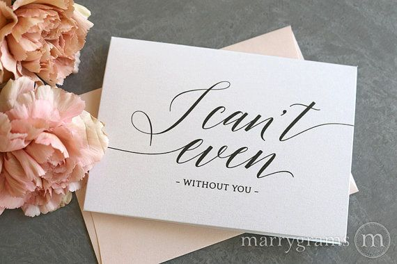Marrygrams is the ORIGINAL wedding note card!®  These beautiful note cards are made with high quality white shimmer cardstock and dark grey text. A