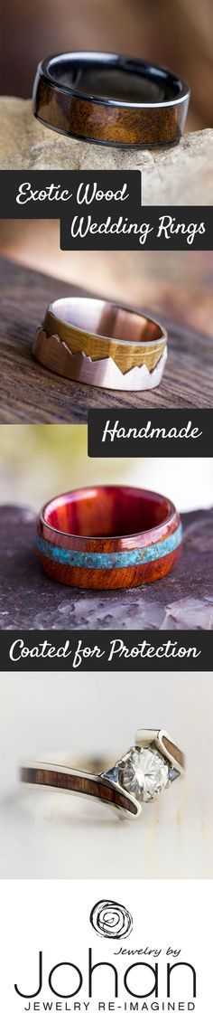 Wood engagement rings and wedding bands boast an abundance of natural beauty and style. Natural wood rings are not only the epitome of sustainable jewelry, but also a creative way to enhance your style and lift your spirits.