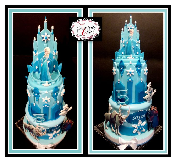 Frozen cake foundant