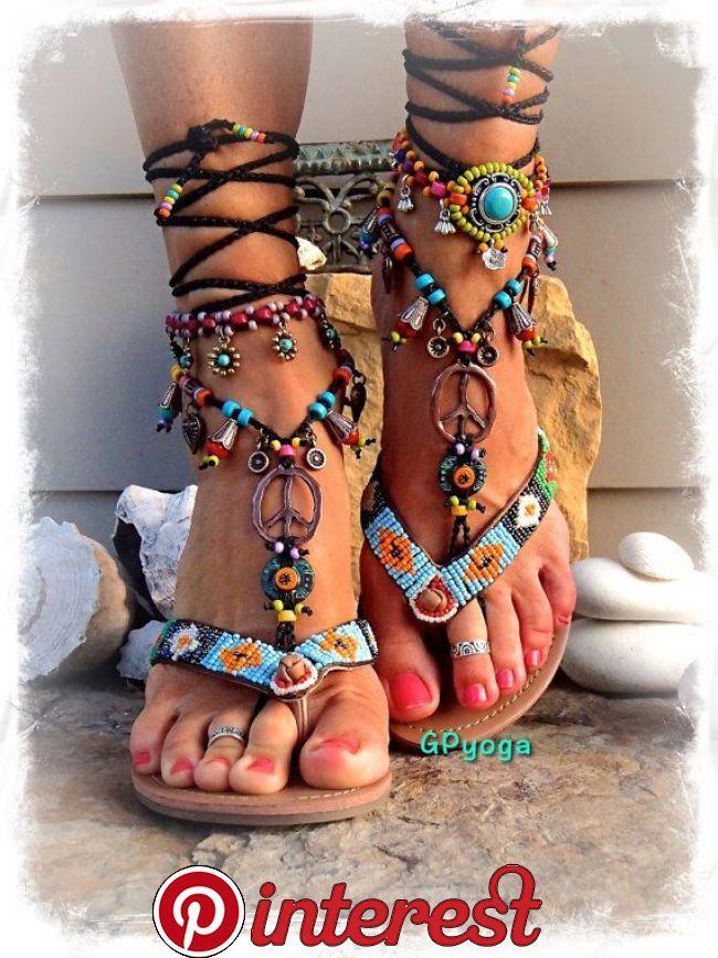 7a0c5fa78 **** Unique GPyoga design **** (please do not copy) The images | cool  sandals in 2019 | Bohemian sandals, Crochet sandals, Sandals
