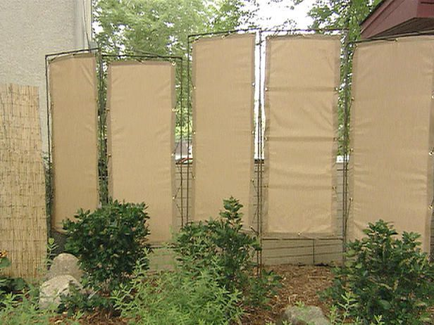 find this pin and more on backyard privacy - Cheap Patio Privacy Ideas