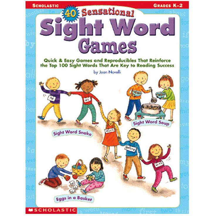 40 Sensational Sight Word GamesHelp kids learn sight words and become better readers with easy games like Sight Word Soup, Magic Wand Words, Simon Says Sight Words!, Word Construction Site, Sing a Son