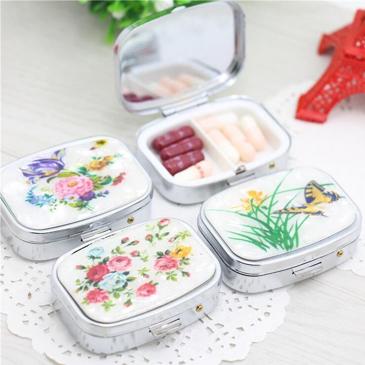 Folding pill case container for Medicines Organizer Pill box Portable Pill cutter Splitters pastilleros pildoras estuche pillbox #clothing,#shoes,#jewelry,#women,#men,#hats,#watches,#belts,#fashion,#style