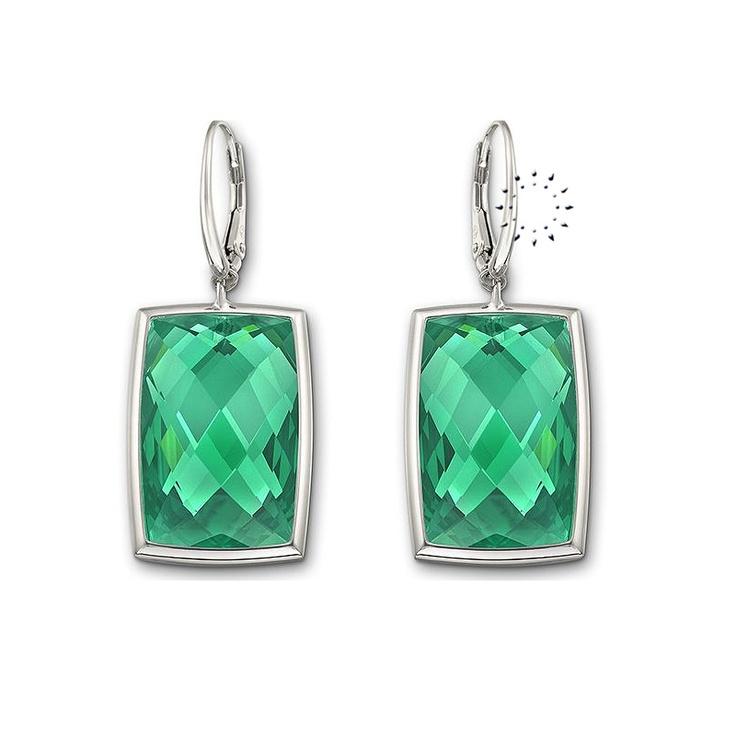 Σκουλαρίκια Nirvana Emerald Swarovski  Tιμή: 119€  http://www.kosmima.gr/product_info.php?products_id=17869
