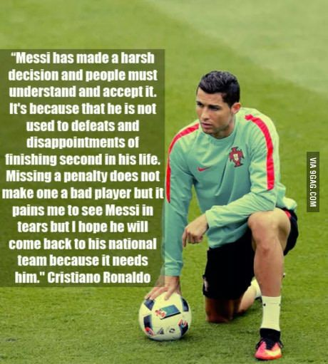 Ronaldo has spoken and haters gonna hate